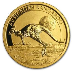 新品未使用 2015年製 オーストラリア、カンガルー金貨1オンス10枚セット クリアーケース付き