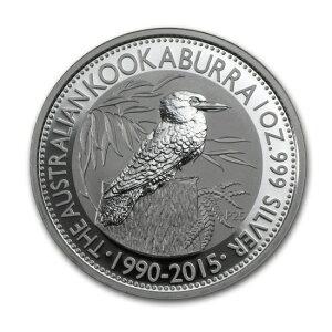 2015年 オーストラリア クッカバラ(カワセミ) 1ドル銀貨 1オンス クリアーケース付き