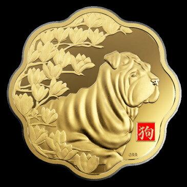 新品未使用 2018 金貨 1キロ 犬 ルナロータスコイン ケース付き カナダ