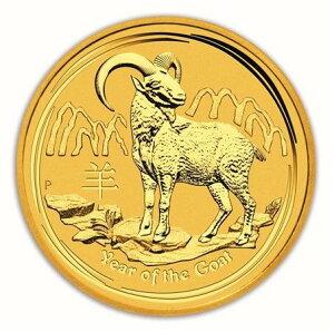 干支 羊金貨 10オンス 2015年製 クリアーケース付き
