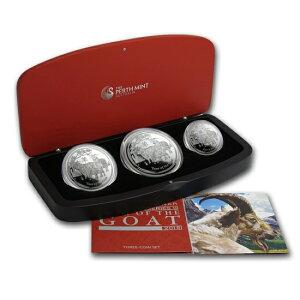 十二生肖绵羊银币[精装3枚] 2015年制造[带盒和透明盒]限量1000套