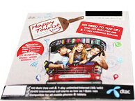 Dtac Happy Tourist sim 3G【タイ7日間unlimited!100B通話付き!】タイで快適データ通信