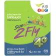アジア周遊 プリペイド SIMカード!3G/4Gデータ通信【8日間3GBデータ定額】AIS