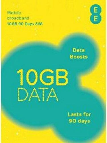 イギリス、ヨーロッパ各国で使えるプリペイドSIMカード EE SIM【10GB/90日利用可能】