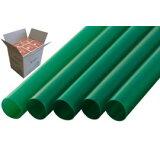 ストレートストロー 12mm×21cm 包装なし 緑色 130本入×20箱【メーカー直送・代引き不可・時間指定不可・即納不可】
