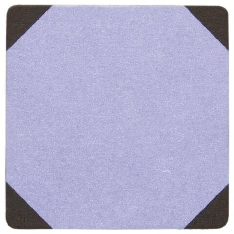 紙コースター 角型 ムラサキ 2色 100枚