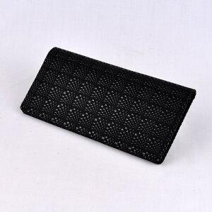 【印傳屋(いんでんや)】財布束入H(長財布タイプ)黒地黒漆・ひょうたん《無料ラッピング承ります》