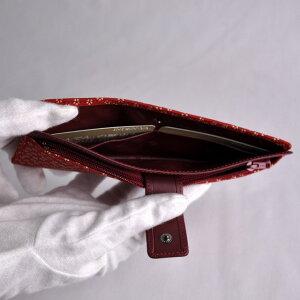 【印傳屋(いんでんや)】財布束入L(長財布タイプ)赤地白漆・小桜《無料ラッピング承ります》