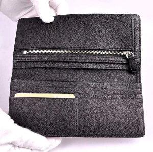【印傳屋(いんでんや)】財布束入Q(長財布タイプ)赤地黒漆・ぶどう《無料ラッピング承ります》