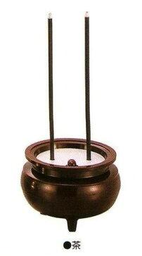 安心のお線香ミニ(予備電池2個付)茶【電池式線香】