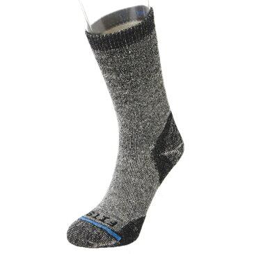 FITS(フィッツ) フィッツ ミディアム ラグドクルー コール F1005男性用 グレー 靴下 メンズウェア ウェア ソックス ウール アウトドアウェア
