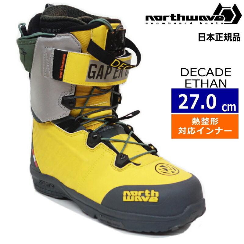 スノーボード用品, ブーツ 20-21 NORTHWAVE DECADE ETHAN :YELLOW GREY 27.0cm