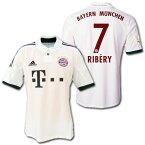 バイエルンミュンヘン 13/14 アウェイ(白) 半袖 #7 RIBERY フランク・リベリー adidas製