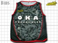 O.K.A.フットサルチームの公式戦、交代用ビブス!すんごい反響です!