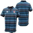 【5999円+税】 ラグビーイングランド代表 ポロシャツ(青ジャガード) CANTERBURY