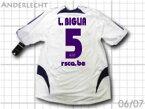 【送料無料】 06/07 アンデルレヒト ホーム(白) 選手用 #5 L.BIGLIA ルーカス・ビリア adidas
