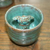 【米子焼】教訓茶碗青