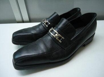 【中古】【あす楽可】☆TOPVALU(トップバリュー)☆メンズ スクエアトゥ ビシネスシューズ☆ブラック☆25cm☆ヒール高:約3.5cm☆屈曲性のある靴底♪