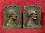 リンカーンアメリカ合衆国大統領銅像ブックエンド置物【M-0382】【中古】【送料無料】
