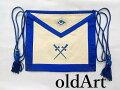 1940年代当時物フリーメイソンロッジオフィシャル正装儀式用具刺繍エプロン前掛け【M-12254】【中古】【送料無料】