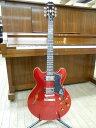 新品 店頭展示品 Epiphone(エピフォン) セミアコースティックギター The Dot 限定カラー CR(キャンディ・レッド) ソフトケース付!
