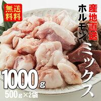 【あす楽】【送料無料】徳用牛ホルモンミックス1.0kg(500g×2袋)