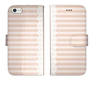 iPhoneSE iPhone SE 第2世代 iPhone11 iPhone 11 Pro Max iPhoneXR iPhone XR iPhoneXs iPhone Xs Max iPhoneX 手帳型 ケース カバー ストライプ シンプル ボーダー柄 レトロ レース ベビーピンク
