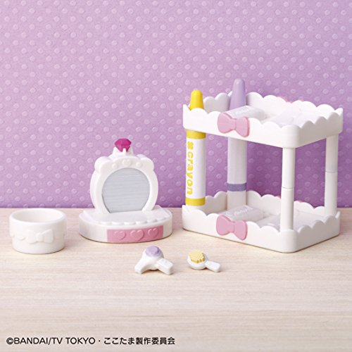 【定形外郵便送料無料】 かみさまみならい ヒミツのここたま ベッドルームセット画像