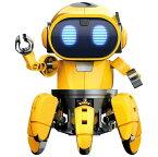 ★【単4アルカリ電池4本付き・送料無料】 エレキット ロボット工作キット フォロ 赤外線レーダー搭載6足歩行ロボット MR-9107 STEM 自由研究