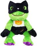【送料無料】 かえるのピクルス ハロウィンビーンドール 黒猫マスク 高さ約18cm