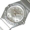 オメガ OMEGA コンステレーション ブラッシュ 123.15.24.60.5 ダイヤベゼル クオーツ レディース 腕時計【中古】