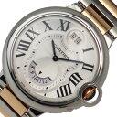 カルティエ Cartier バロンブルー2タイム W6920027 クオーツ メンズ 腕時計【中古】