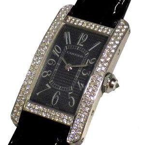 Cartier Cartier Tank American SM Diamond Bezel 2489 Quartz Ladies Watch [Used]