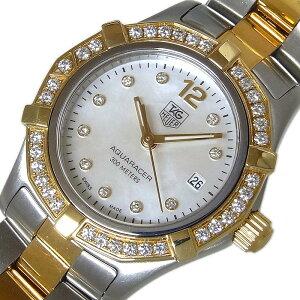 ساعة تاغ هوير TAG HEUER Aqua Racer Shell Diamond 10P WAF1450.BB0814 كوارتز نسائية [مستعملة]