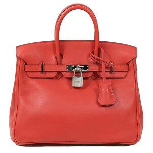 爱马仕(Hermes)HERMES Birkin 25 Rouge番茄银硬件女士手提包[二手]