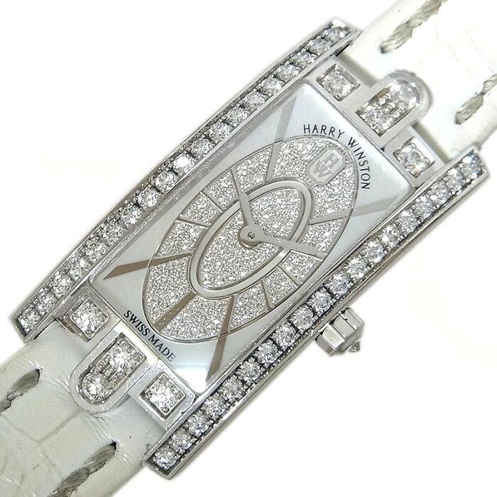 ハリーウィンストン HARRY WINSTON アヴェニューCミニ シェル ダイヤモンド AVCQHM16WW052 クオーツ レディース 腕時計【中古】