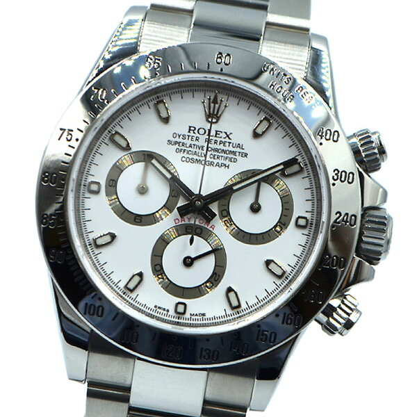 ロレックスROLEXデイトナ116520ホワイト自動巻きメンズ腕時計 中古