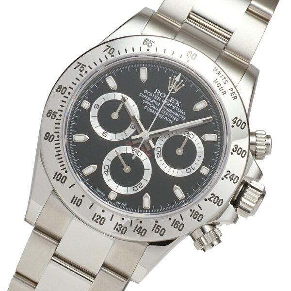 ロレックスROLEXデイトナ116520ブラック自動巻きメンズ腕時計 中古