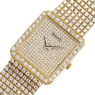 ピアジェ PIAGET クラシック 81541C626 クォーツ 金無垢 ダイヤモンド メンズ ウォッチ 腕時計【中古】
