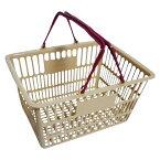 ナンシン[SWD-18ベージュ]ショッピングバスケット ベージュ[事務用品][マネー関連品・店舗用品][買い物カゴ]
