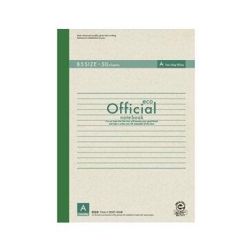 (業務用セット) アピカ オフィシャルノート 無線綴じノート A罫(7mm) エコタイプ 6A5FE 1冊入 【×10セット】