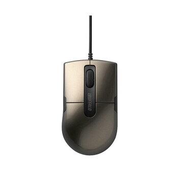 (まとめ)バッファロー 有線BlueLEDマウス静音 3ボタン Sサイズ ブラウン BSMBU26SSBW 1個【×3セット】