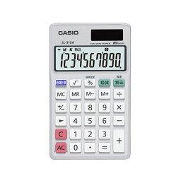 (まとめ)カシオ 手帳タイプ電卓10桁表示SL-310A-N 1台【×3セット】