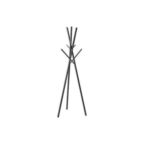 北欧風 ハンガーラック/コートハンガー 【ブラック】 幅57.5cm 木製 〔寝室 ベッドルーム リビング 玄関〕