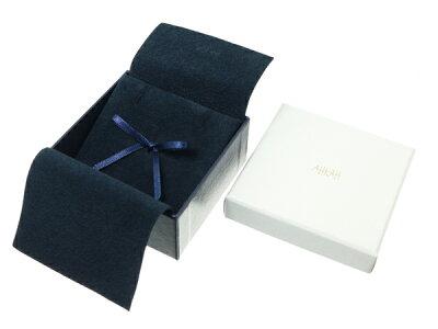 アーカーネックレスダイヤ0.14ctプリンセスハートK18YG箱【】BLJ