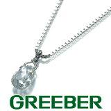ダイヤ ダイヤモンド 0.364ct ブリオレットカット ネックレス Pt850/プラチナ【中古】GENJ