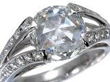 ローズカット ダイヤ ダイヤモンド 2.53ct 0.36ct リング 指輪 Pt900/プラチナ【中古】GENJ