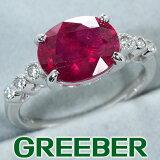 ルビー 3.481ct ダイヤ ダイヤモンド 0.09ct リング 指輪 K18WG ソーティング【中古】GENJ