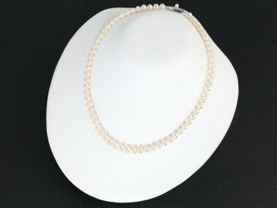 ミキモトネックレスアコヤ真珠パール6.0-6.5mm珠シルバー保証書【】