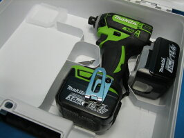 【特別セット】マキタ充電インパクトドライバTD138DZL(ライム)14.4V本体・バッテリー2個・ケースセット